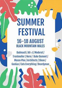 How To Make Your Own Flyers For Your Business Summer Festival Poster Flyer Template Flipsnack