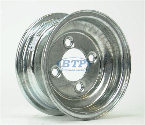 Boat Trailer Wheel Pattern by Boat Trailer Wheel 8 Inch Galvanized 4 Lug 4 On 4 Bolt Pattern