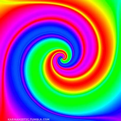 Trippy Colorful Gifs Animated Colorido Rainbow Moving