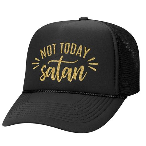 today satan script trucker hat vintage trucker hats