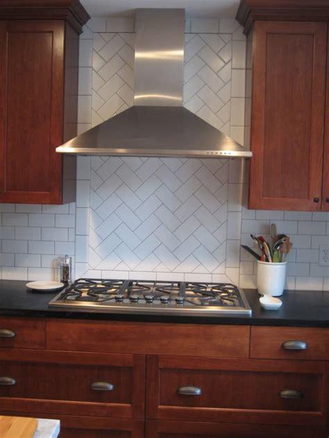 Kitchen Tile Backsplash Patterns by Herringbone Backsplash Herringbone Pattern In Backsplash