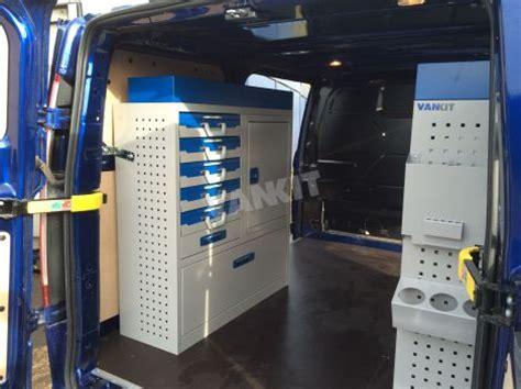 ford transit custom lh electrician van racking