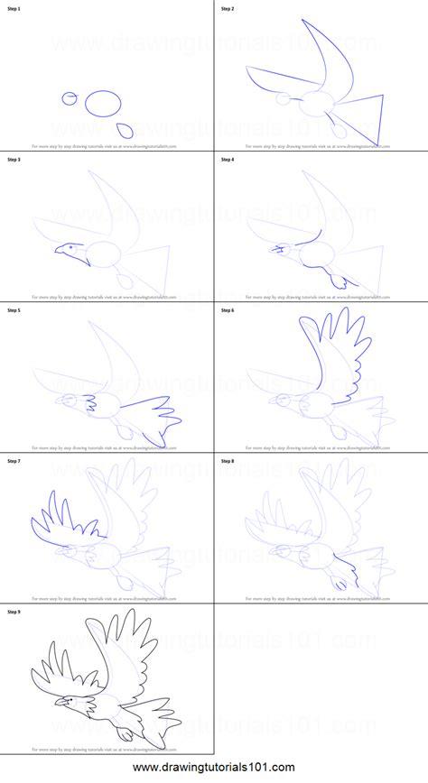 draw  eagle  kids printable step  step