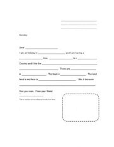 friendly letters worksheets