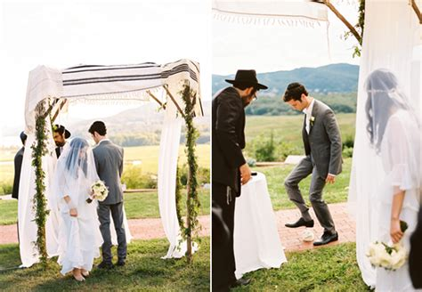 modern cake stand outdoor wedding chuppah once wed