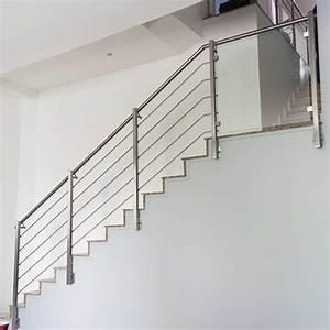 Rampe Escalier Inox 5 Barres Pose Anglaise InoxDesign