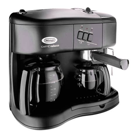 But pulling an espresso shot takes just a few seconds. DeLonghi BC070 Combo Coffee/Espresso/Cappuccino Maker at Hayneedle