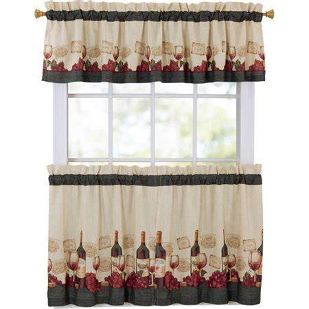Mainstays Vineyard 3 Piece Kitchen Curtain Set   Walmart.com