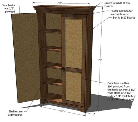 ana white build a simplest armoire free and easy diy