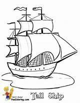Coloring Ships Tall Ship Sailing Drawing Boats Pirate Printable Boat Sheets Paul Yescoloring Colouring Drawings Template Prints Shipwreck Short Boys sketch template