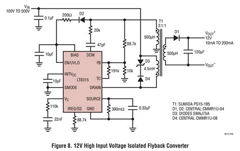 High Input Voltage Isolated Flyback Converter