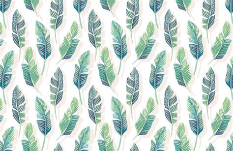 white  green tropical leaf wallpaper mural wallpaper