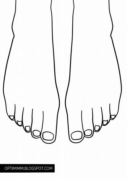 Coloring Toe Nails Nail Feet Nele Printable