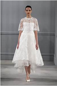 monique lhuillier spring 2014 bridal collection With mid calf wedding dresses