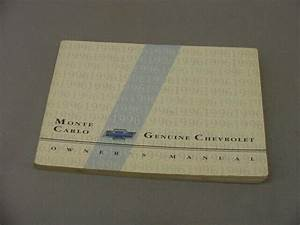 1996 Chevrolet Monte Carlo Owner U0026 39 S Guide Manual With Case