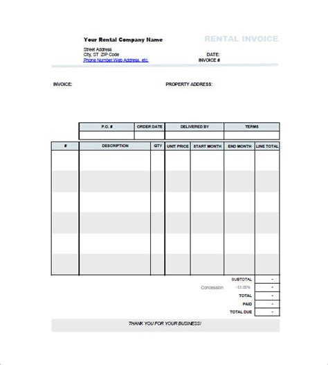 car invoice templates   word excel  format
