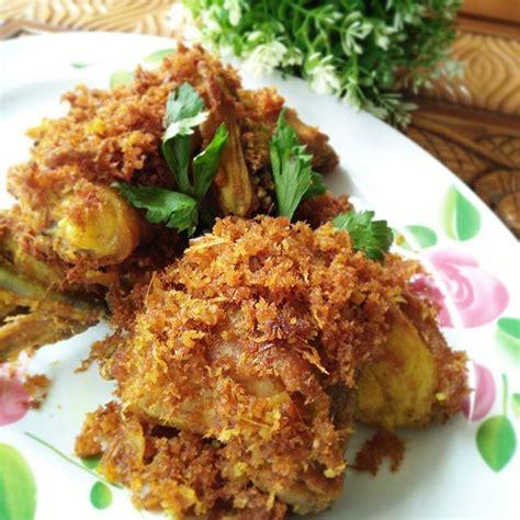 Sudahkah anda mencoba resep ayam serundeng khas sunda? Resep Ayam Serundeng Basah - masakan mama mudah