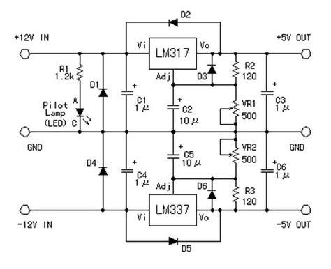 symmetric    converter power supply circuits