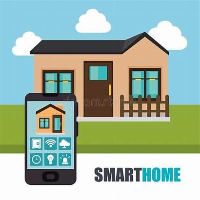 Smartphone Smart Controlling Steuert Das Facade Interface