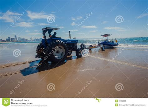 Boat Winch Durban by Fishing Ski Boat Tractor Editorial Photography