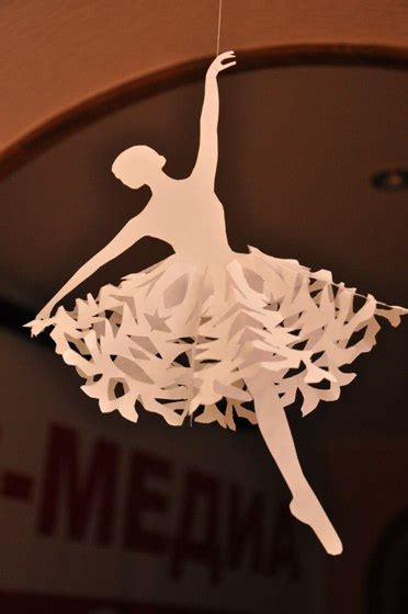 schneeflocken als ballerina basteln dekoking diy mehr