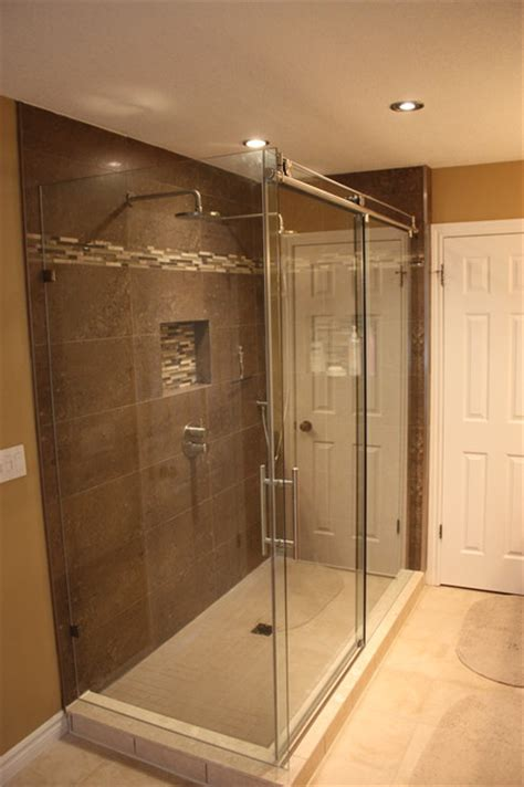 Two Shower Bathroom by Two Person Custom Shower Contemporary Bathroom