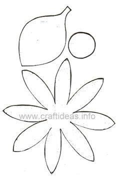 moldes de petalos de daisies Buscar con Google Flores
