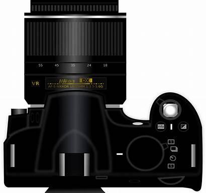 Camera Dslr Clipart Clip Nikon Canon Vector