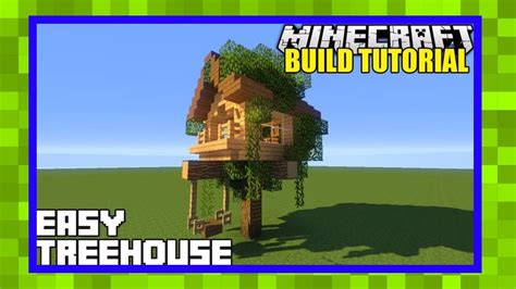 How To Build A Starter Treehouse In Minecraft-youtube
