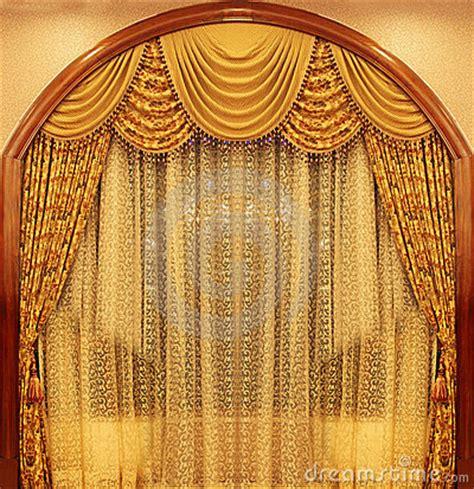 yellow velvet theater curtains royalty  stock