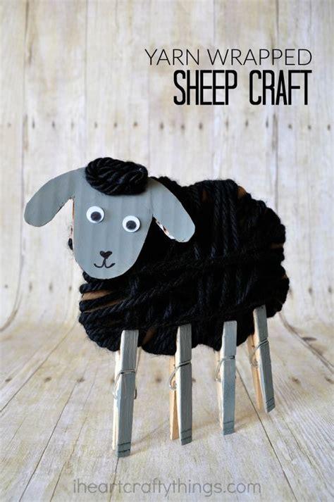 yarn wrapped sheep craft  kids sheep crafts animal