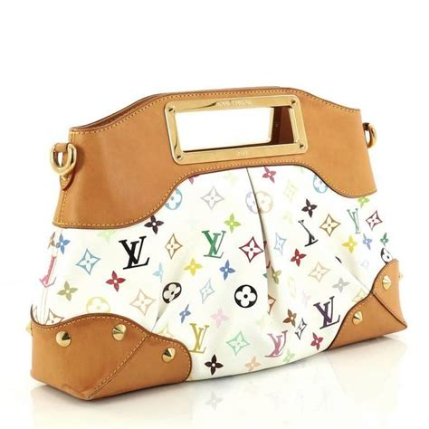 louis vuitton judy monogram multicolor gm handbag  stdibs
