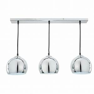 Suspension Industrielle Maison Du Monde : suspension triple en aluminium bross d 70 cm trio maisons du monde ~ Nature-et-papiers.com Idées de Décoration
