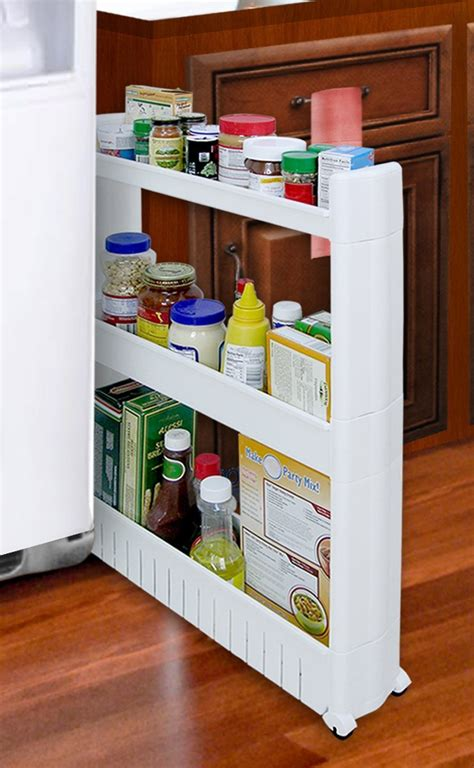 slide out kitchen storage slide out storage tower for kitchen bath laundry rooms 5333