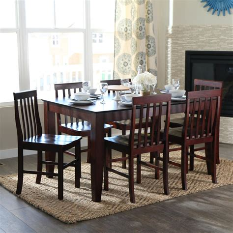 Espresso Dining Room Set by Walker Edison Furniture Company Abigail 7 Espresso