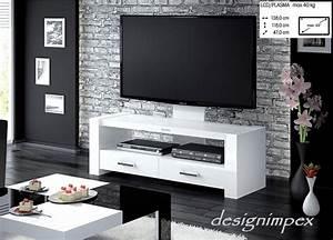 Moderne Tv Möbel : fernsehtisch h 555 wei hochglanz tv schrank tv m bel tv ~ Michelbontemps.com Haus und Dekorationen