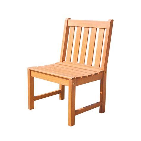 vifah malibu armless patio dining chair v1636 the home depot