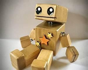5 frankenbot der kleine holzroboter kostenlos etsy