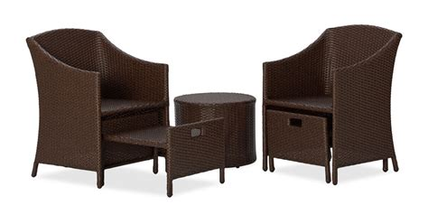wicker chair with ottoman amazon com strathwood all weather wicker 5 piece
