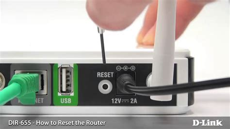 How To Factory Reset Your Dlink Router Youtube