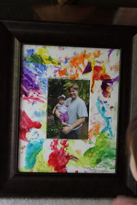 fathers day finger painted picture  toddlers