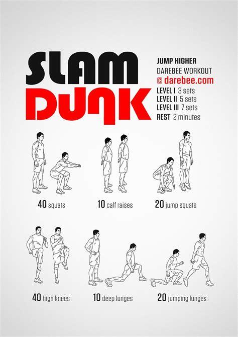 slam dunk workout body weight exercises basketball