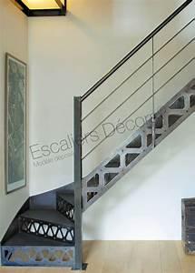 Escalier Métallique Industriel : escalier 1 4 tournant escaliers d cors ~ Melissatoandfro.com Idées de Décoration