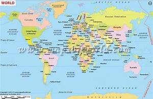 World Map With Countries Labeled For Kids