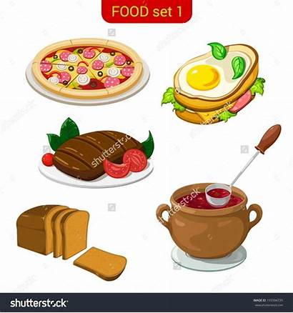 Main Dish Clip Clipart Dishes Delicious Vector