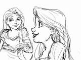 Rapunzel Tangled Sketches Sketch Coloring Template Imgarcade Credit Larger sketch template