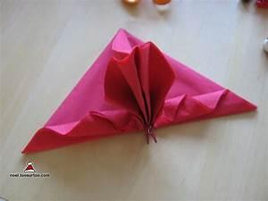 Serviette De Noel En Papier : pliage serviette en papier facile pour noel napkins pinterest pliage serviette pliage ~ Melissatoandfro.com Idées de Décoration