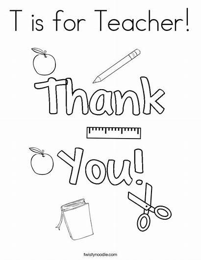 Teacher Coloring Pages Noodle Twistynoodle Appreciation Twisty