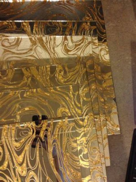 12x12 antique mirror tiles gold vein mirror glass tiles mid century modern home