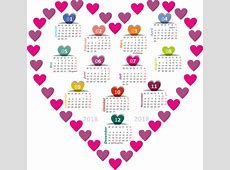 Free illustration Calendar, 2018, Heart Free Image on